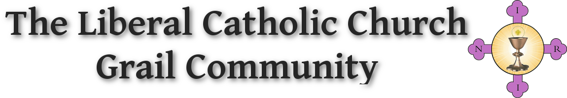 The Liberal Catholic Church Grail Community header with logo
